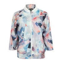 ZLYC Fantasy Starry Diamond Chiffon Bomber Jacket for Girls