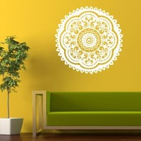 Housewares Vinyl Decal Indian Ornament Mandala Home Wall Art Decor Removable Stylish Sticker Mural Unique Design for Nursery Room