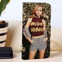 Cara Delevingne | Fashion Model | custom wallet case for iphone 4/4s 5 5s 5c 6 6plus 7 case and samsung galaxy s3 s4 s5 s6 case