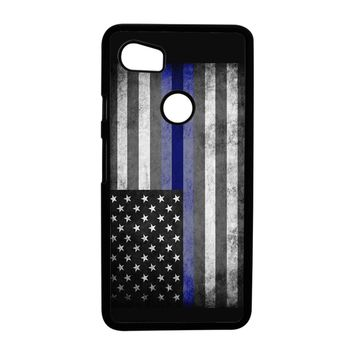 The Thin Blue Line American Police Officer Google Pixel 2 XL Case Case