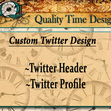Custom Twitter Fan Page Design Header Profile Logo Graphic Image Product Design Package Store Brand Business Heading Banner