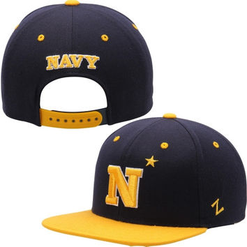 Navy Midshipmen Zephyr Undercard Snapback Adjustable Hat – Navy Blue