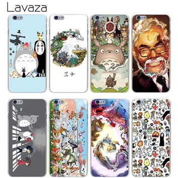 Lavaza Phone Cases Studio Ghibli Spirited Away Totoro Hard Transparent Cover Case for iPhone X 10 8 7 6 6S Plus 5 5S SE 5C 4 4S