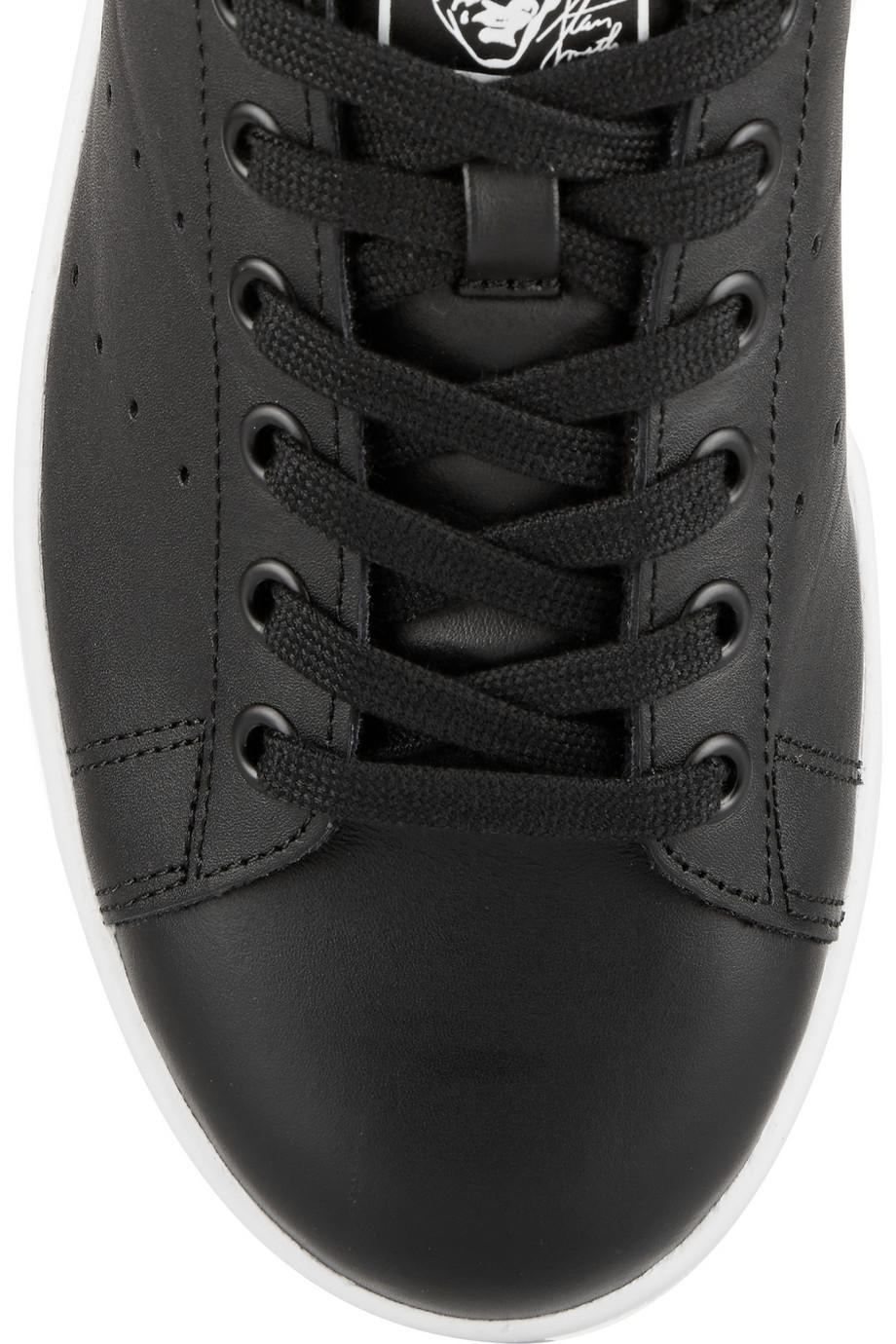 2ffc01c259afef adidas Originals - Stan Smith leopard print-trimmed leather sneakers