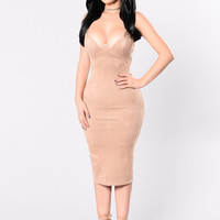 Spark The Fire Dress - Camel