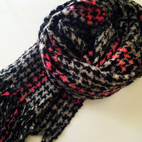 Plaid Fuzz Scarf