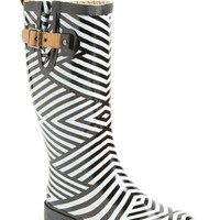 "Women's Chooka Stripe Waterproof Rain Boot, 1"" heel"