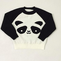 Mommy and Me Panda Sweaters Set