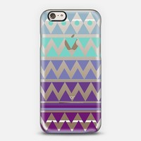 PURPLE TRIBAL CHEVRON - Crystal Clear Phone Case iPhone 6 case by Nika Martinez | Casetify