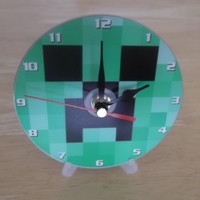 Minecraft personalised gift dvd clock with free display stand