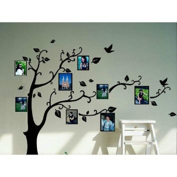 Black Photo Picture Frame Tree Vine Branch Removable Wall Decor Decal Stickers (Size 1)