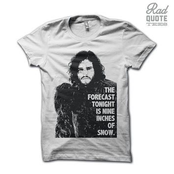 Nine Inches of Snow - Game of Thrones Shirt, Funny Womens T Shirt, Jon Snow Shirt, Jon Snow, Shirt, Game of Thrones, Clothing, Tshirt