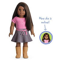 American Girl® Dolls: Dark skin, straight dark brown hair, brown eyes