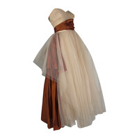 1950s Will Steinman Tulle and Silk Ball Gown
