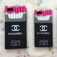 """Chanel""fashion hot sale iPhone  cases Tempered film  red"