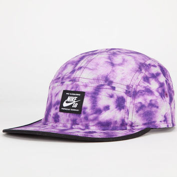 Nike Sb Tie Dye Mens 5 Panel Hat Purple One Size For Men 24859017801