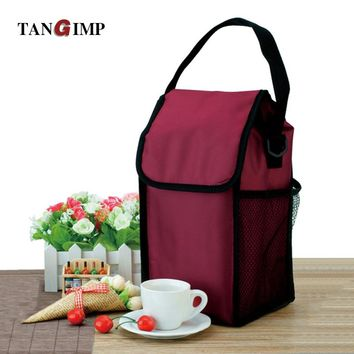 TANGIMP Square Insulated Lunch Bags for Women Men Kids Oxford Cooler Thermal Lunchbox Food Picnic Bag Handbag Tote sac dejeuner