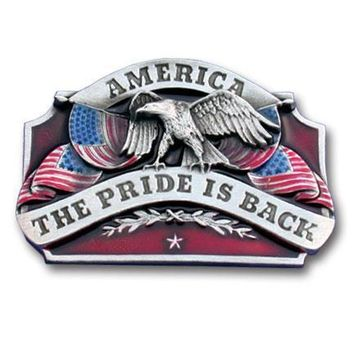 Sports Jewelry & AccessoriesSports Accessories - American Pride is Back Enameled Belt Buckle