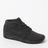 Nike SB Stefan Janoski Max Mid Leather Shoes - Mens Shoes - Black/Black