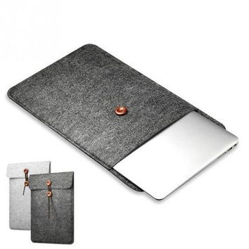 ICIKCO2 Protective Woolen Felt Cover Case Anti-shock Case Bag Cover for Macbook Air Pro 11 12 13 15 Inch Laptop