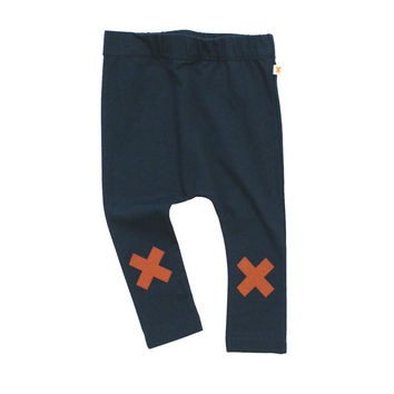 TinyCottons Navy Blue Logo Pants