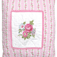 Greengate Quilted Pink Cushion
