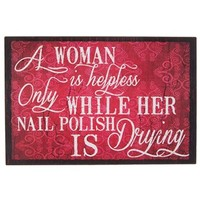 Woman is Helpless Only When Tin Sign | Shop Hobby Lobby