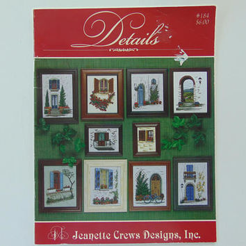 Details House Doors Cross Stitch Patterns Jeanette Crews #184