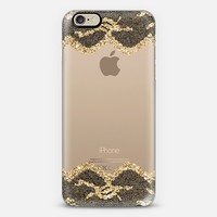 Double Faux Gold and Black Romantic Lace iPhone 6 case by Organic Saturation | Casetify