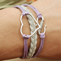 Bracelet-Heart  bracelet with S-Fashion bracelet