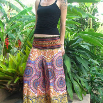 Summer Flare Cotton Trousers Boho Gypsy Mandala Harem Yoga Pants Hippie Festival | eBay