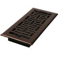 Decor Grates 4 in. x 14 in. Oil-Rubbed Bronze Steel Oriental Register-AJH414-RB - The Home Depot