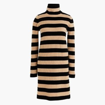 Petite Striped turtleneck sweater-dress