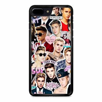 Justin Bieber Collage iPhone 8 Plus Case