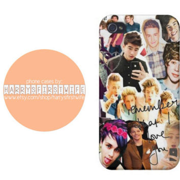 One Direction and 5SOS collage iPhone 4/4s 5/5s/5c & iPod 4/5 Case