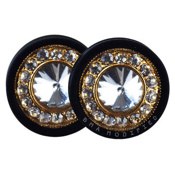 "Malay CZ Inlay and Brass Ebony Plugs (19mm-38mm) (3/4""- 1' 1/2"")"