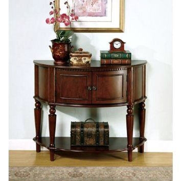 Entry Way Console Table/Hall Table, Coaster Storage Brown Finish
