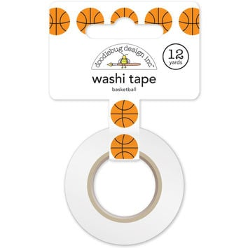 Slam Dunk Basketballs Design Washi Tape, 15mm x 12 yards by Doodlebug Designs