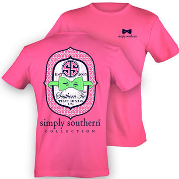 "Simply Southern Pink ""Southern Tie That Binds Us"" Short Sleeve"
