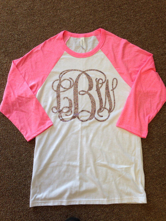 46447be0 Womens Monogrammed Raglan Baseball Tee from YounInkBoutique on