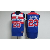Classic NBA Basketball Jerseys Washington Wizards #23 Michael Jordan Blue
