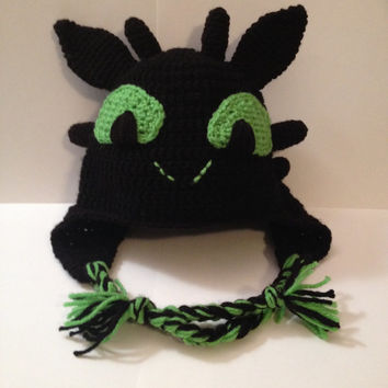 Toothless - How to Train Your Dragon Beanie/ Hat - Any Size