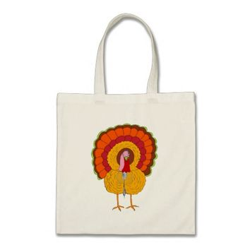 Tom Turkey on Tote Bag