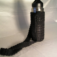 Black Water Bottle Carrier
