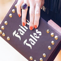 FAIRY TALES VEGAN LEATHER BOOK CLUTCH