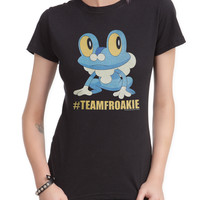 Pokemon #TEAMFROAKIE Girls T-Shirt