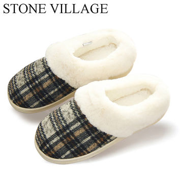 2017 Plush Warm Winter Home Slippers Non-Slipper Rubber Sole Sewing Indoor Shoes Comfortable Soft Wear-Resisting Women Slippers