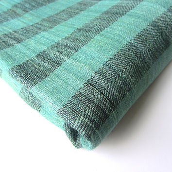 Green grey striped raw silk dupioni silk raw silk India fabric nr 304 fat quarter