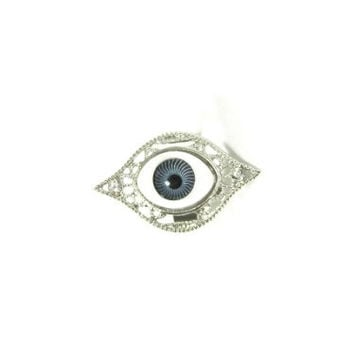 Evil Eye Ring Adjustable Blue Nazar Amulet RF44 Goth Statement Halloween Fashion Jewelry