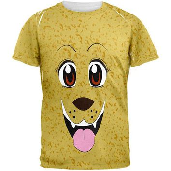VONEG5F Anime Dog Face Inu All Over Adult T-Shirt